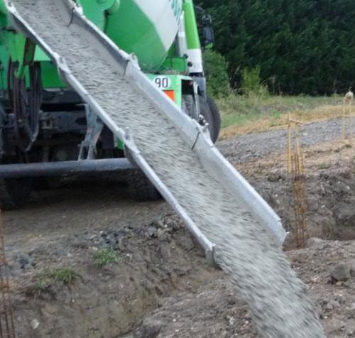 concrete chute