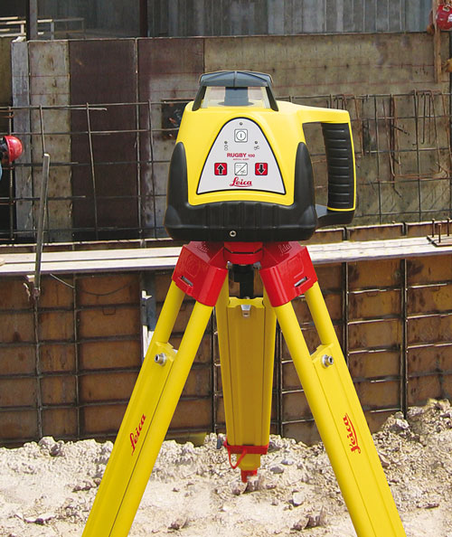 laser level on tripod