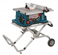 Table Saw with Wheeled Stand