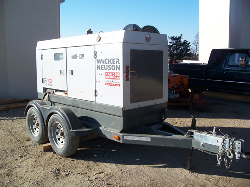generator on trailor 70 kw