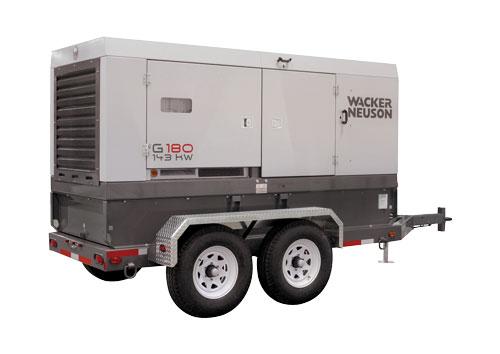 diesel generator on trailer 150 kva