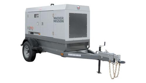 diesel generator on trailer 45 kva